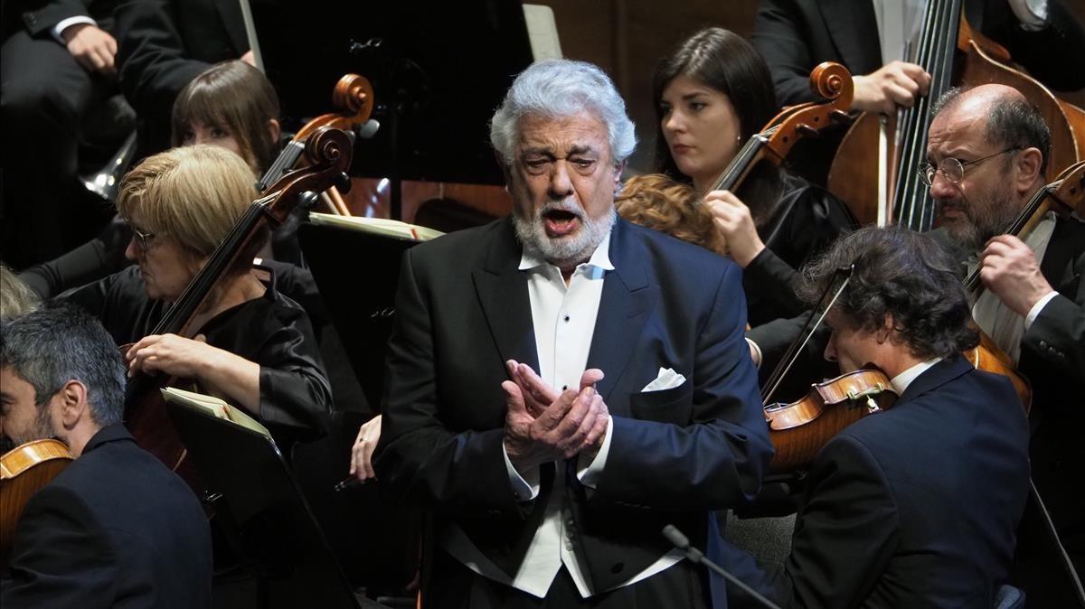 Plácido Domingointerpretando zarxuela en el Liceu.
