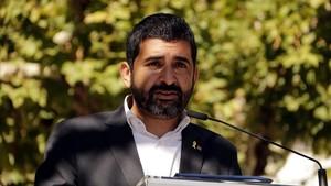 El conseller de Afers Socials,Chakir El Homrani, este domingo en Balaguer.