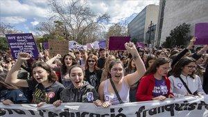 Manifestación feminista el año pasado.