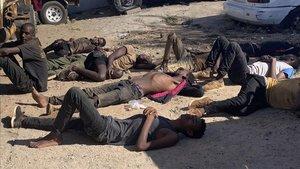 Trobats morts en un contenidor més de 60 immigrants a Moçambic