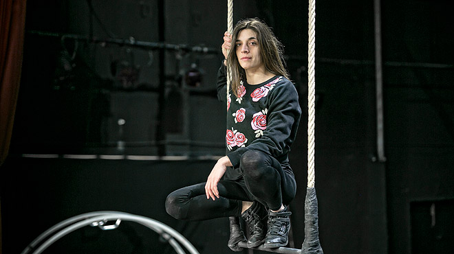 Griselda Juncà, al trapezi