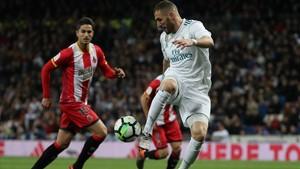 Benzema, en el partido contra el Girona.