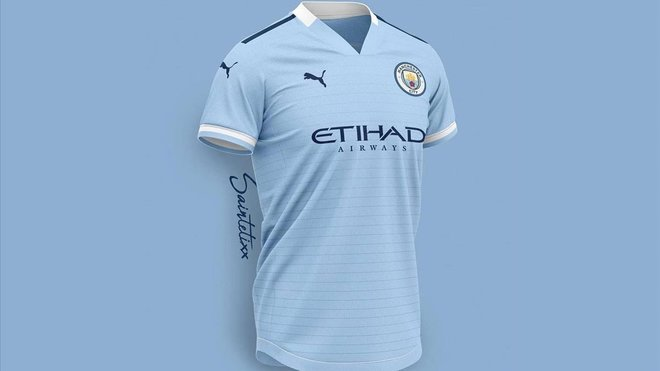 La nueva camiseta del City. fb34f655fa5