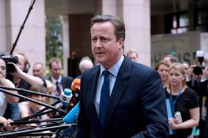 El primer ministro británico, David Cameron, a su llegada al Consejo Europeo.