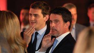 Albert Rivera y Manuel Valls, el pasado abril en Barcelona.