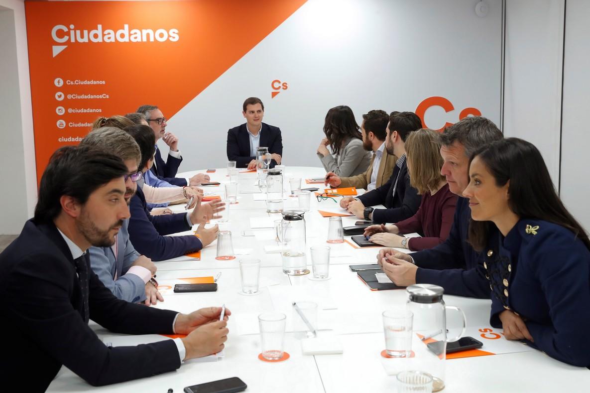 Albert Rivera, en la reunión del Comité Permanente de Cs.