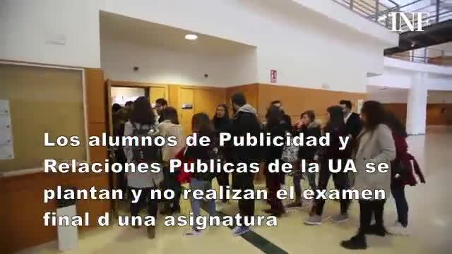 Alumnos de la Universidad de Alicante se plantan ante un profesor que puso 223 ceros en trabajos finales.