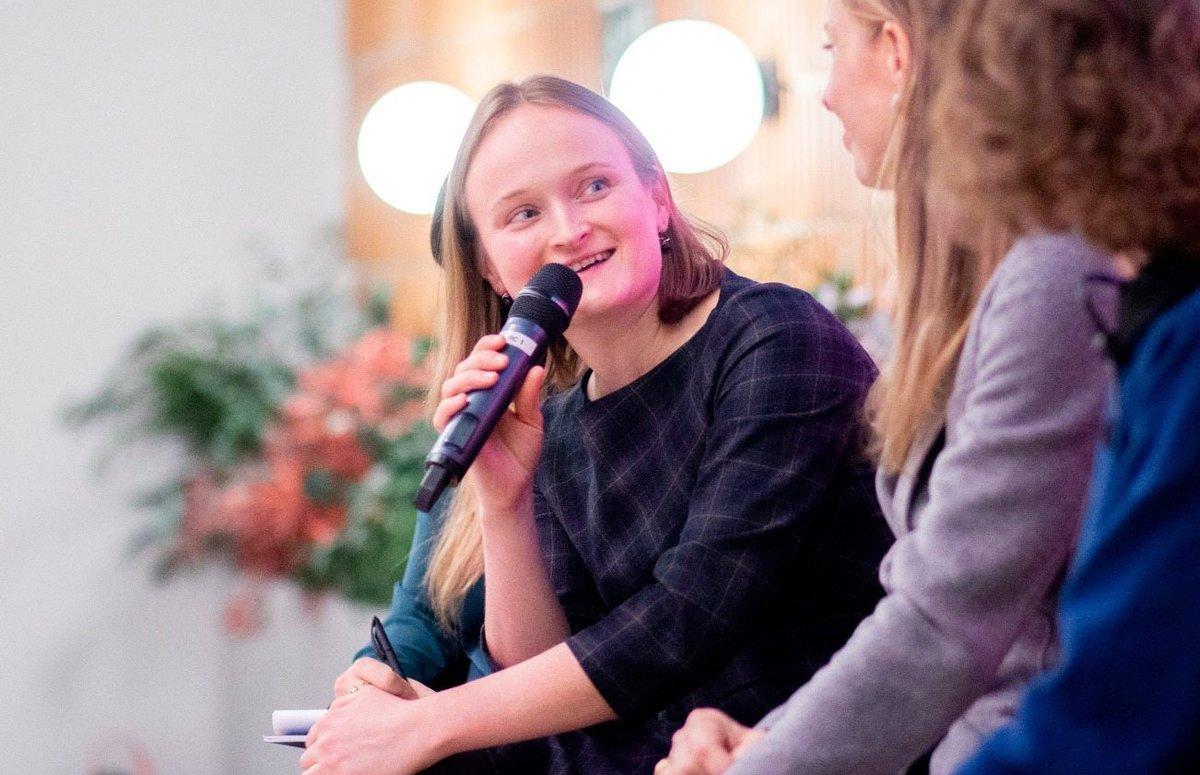 Imagen de Anna Stépanoff, fundadora y CEO de Wild Code School, durante un evento reciente en Madrid.