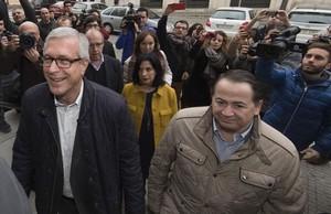 El alcalde de Tarragona, Josep Fèlix Ballesteros, a su llegada a los juzgados para declarar por el caso Inipro.