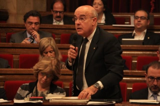 Boi Ruiz en el pleno del Parlament