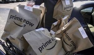 Bolsas de Amazon Prime Now.