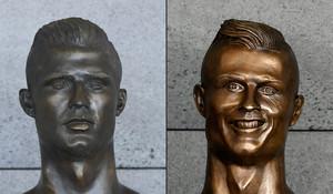 A la izquierda, el nuevo busto y a la derecha, el antiguo.