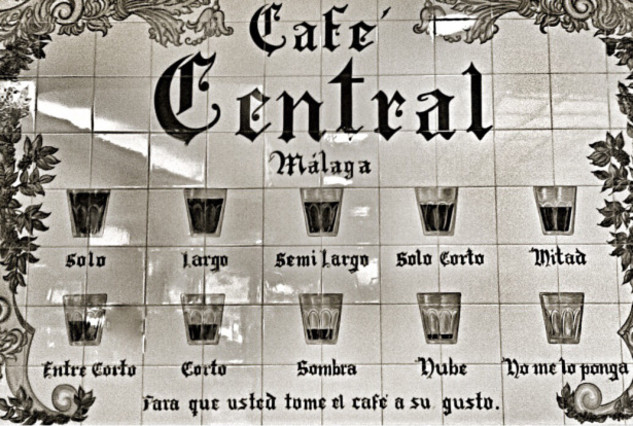 Café Central . 10 different combinations of coffee with curious names