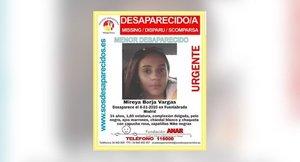 Un cartel de la menor de 14 años desaparecida.