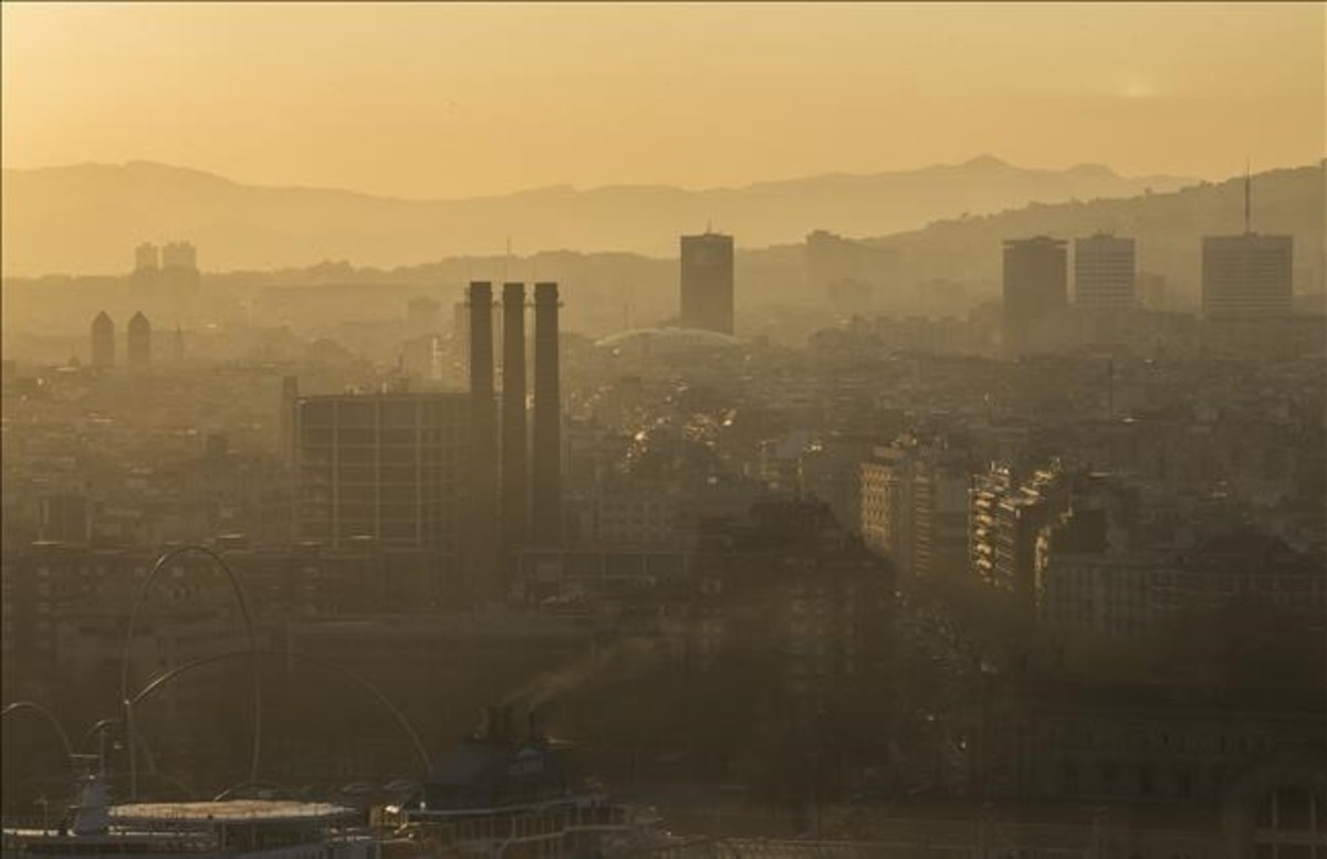 Contaminación en Barcelona, en una imagen de archivo.