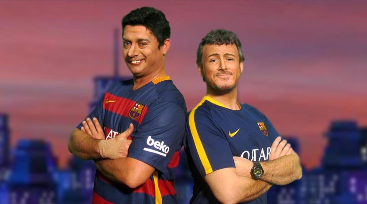 Luis Suárez (David Olivares) y Luis Enrique (Ivan Labanda), en una imagen de Crackòvia.