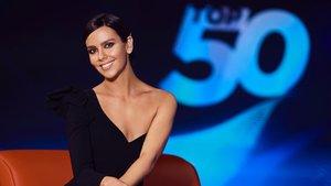 Cristina Pedroche en el plató de 'Top 50'.