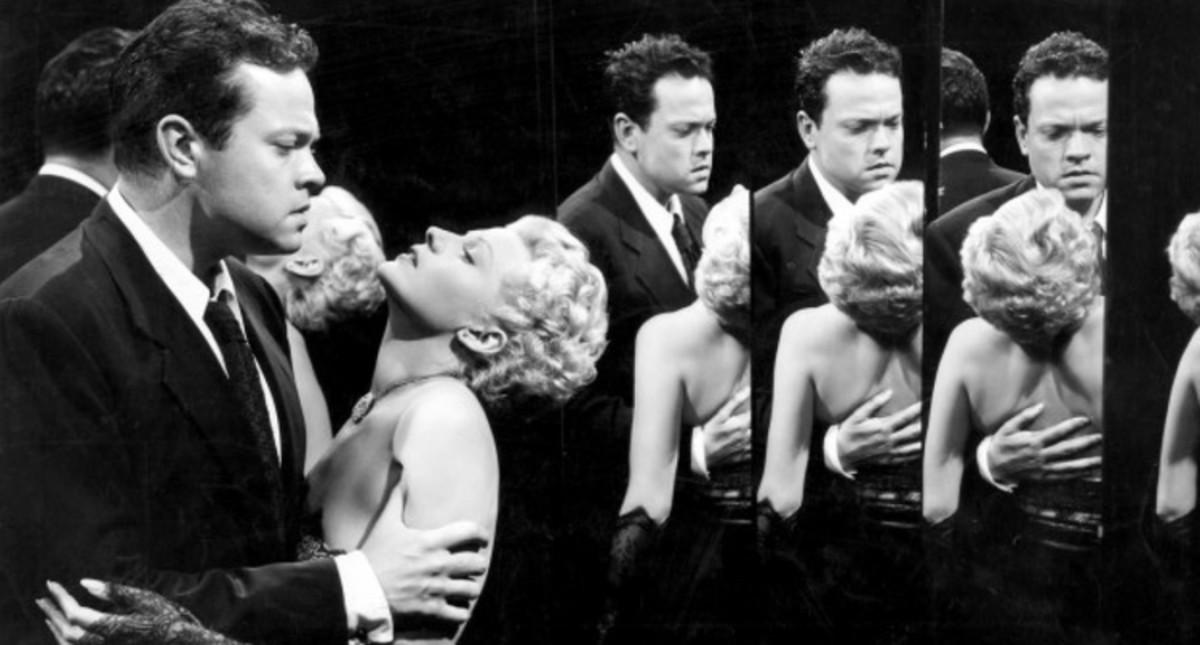 La escena de los espejos con Orson Welles y Rita Hayworth en La dama de Xangai.