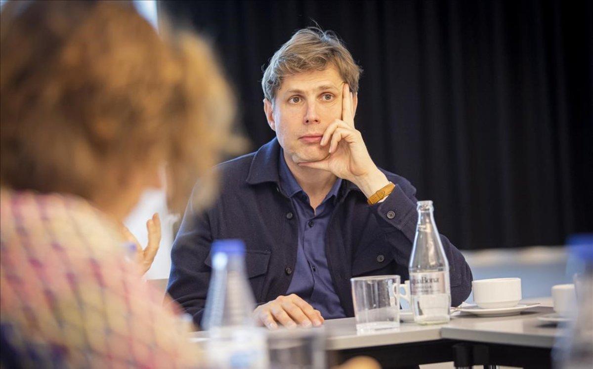 Daniel Kehlmann en el Institut Goethe de Barcelona.