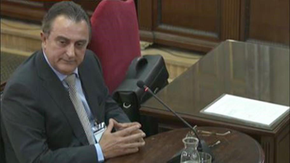 Manel Castellví, durante su declaración en el Tribunal Supremo.