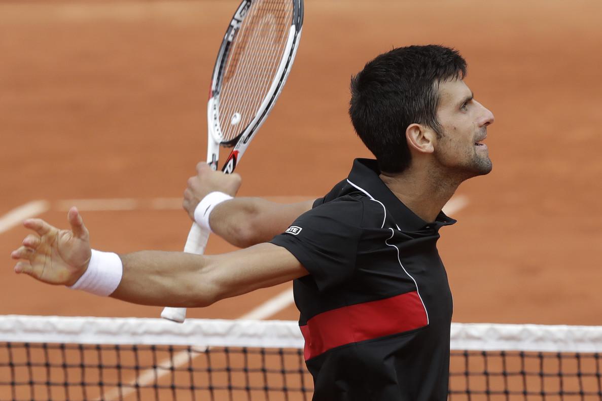 Novak Djokovic, durante su partido contra Roberto Bautista.