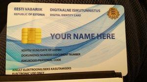 Un modelo de DNI de ciudadanía virtual de Estonia.