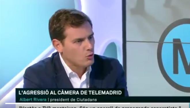 Un duro encontronazo ente Albert Rivera y Lídia Heredia en la entrevista de TV-3.