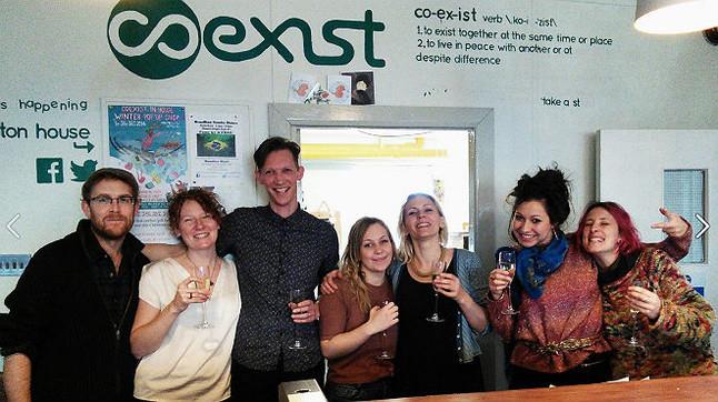Empleados de Coexist, en una imagen compartida en el muro de su página de Facebook.