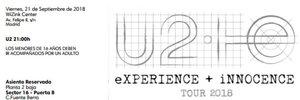 Entrada del concierto de U2 el 21 de septiembre en Madrid.