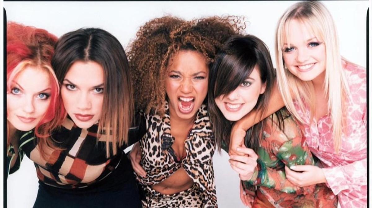 Las cinco excomponentes de las Spice Girls: Emma Burton, Mel B, geri Halliwell, Mel C y Victoria Beckham.