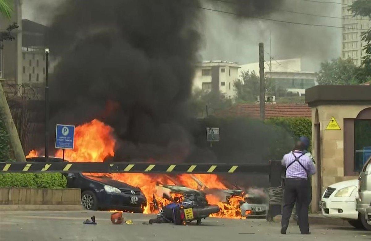 Explosión en un complejo hotelero en la capital de Kenya, Nairobi.
