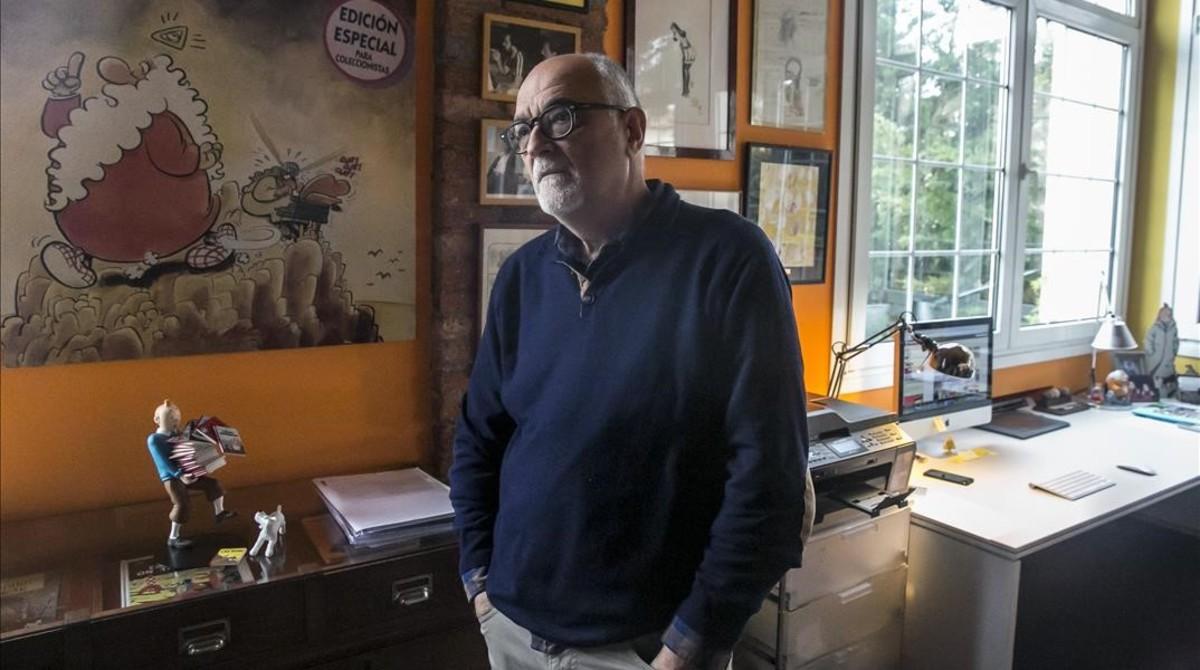 José Luis Martín, en su estudio.