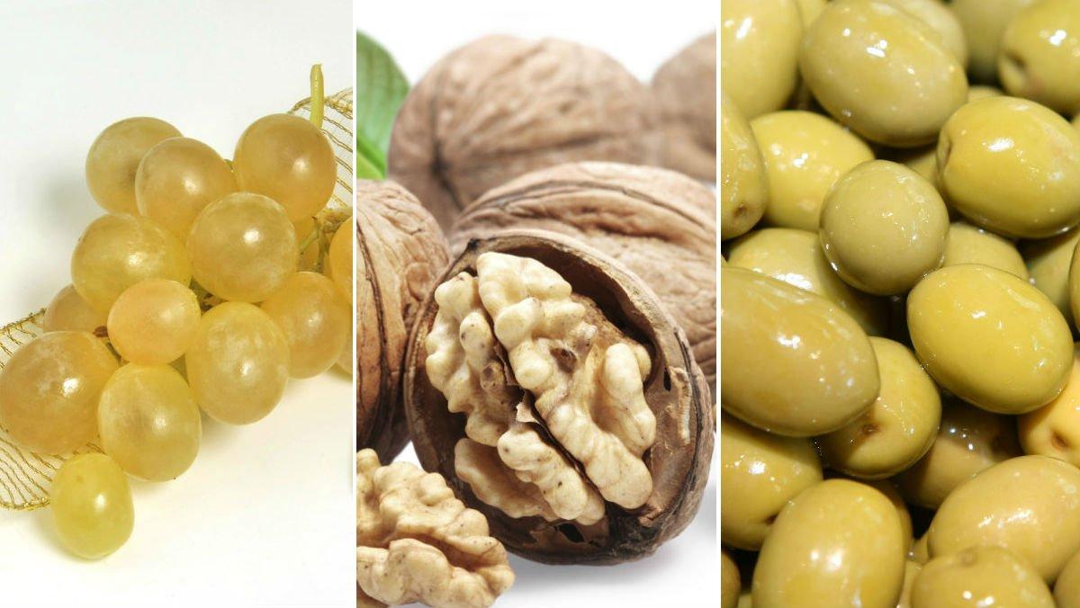 Uvas, nueces y aceitunas, alimentos no recomendados para menores de 5 años.