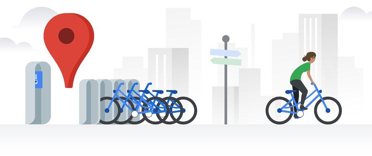 Google Maps permite ver cómo están las estaciones de bicis en 24 ciudades