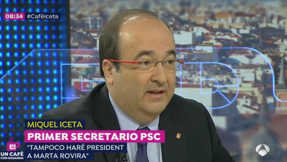 El líder del PSC, Miquel Iceta,ha bromeado con la alianza electoral con Espadaler: Para purgar tus pecados ahora trabajaras para que un gay sea presidente.