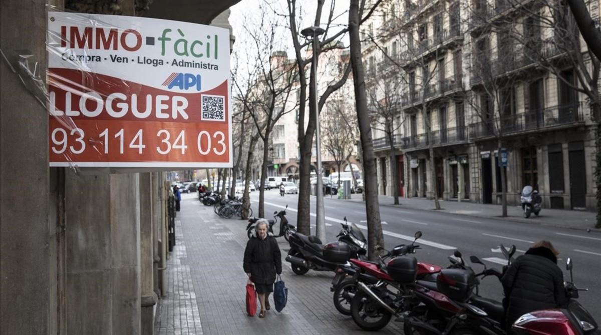 Anuncios de pisos en Barcelona.