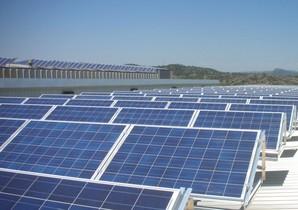 Imagen de un parque solar de Endesa.