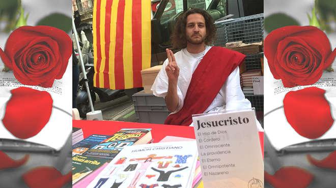 Jesucristo se apunta a firmar libros este Sant Jordi.