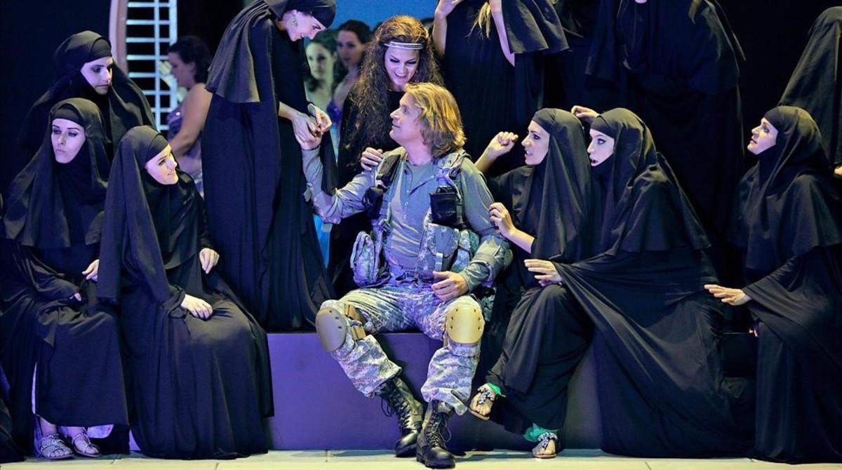 El tenor Klaus Florian Vogt., como Parsifal, en Bayreuth.