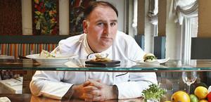 José Andrés, en su restaurante Minibar, en Washington.