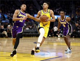 Los Lakers lideran la victoria contra los Warriors en el Golden State.