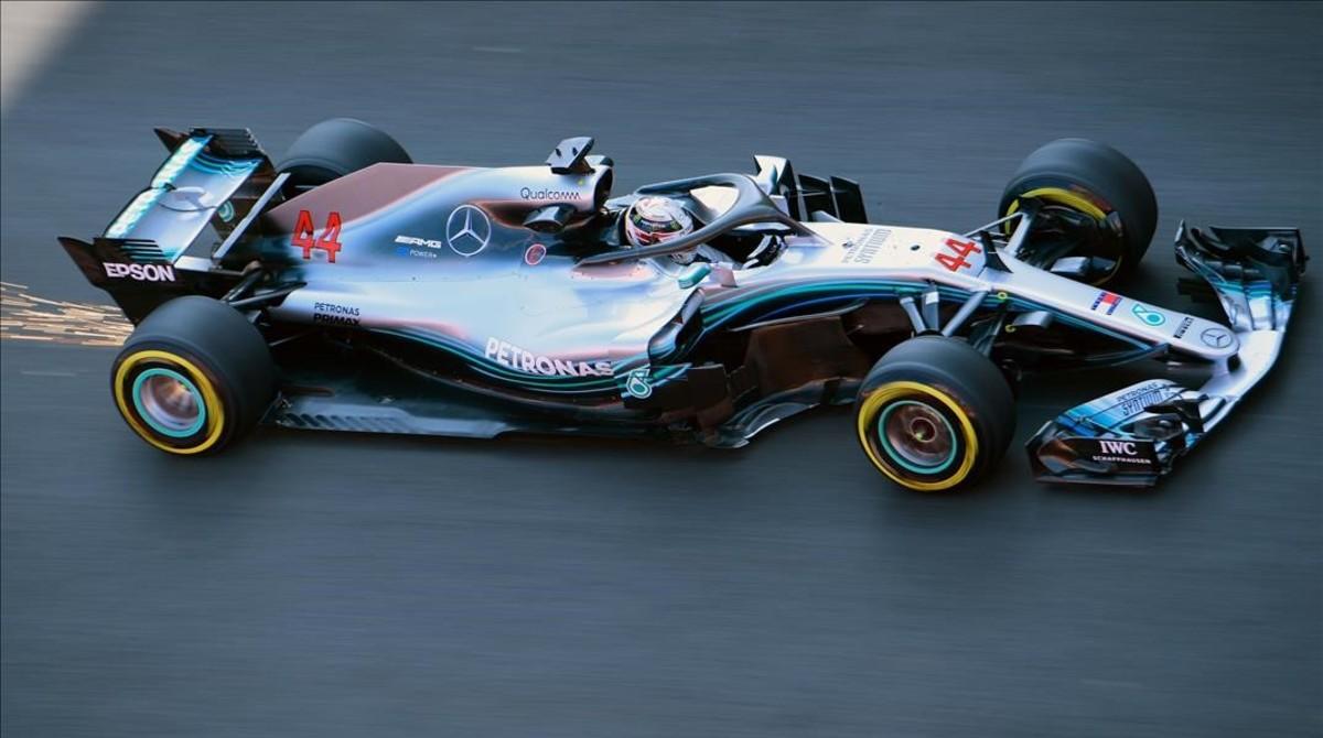 Leis Hamilton y su poderoso Mercedes han sido hoy, en Montmeló, los más rápidos.
