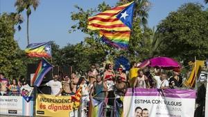 La Pride Parade, al año pasado en Barcelona.