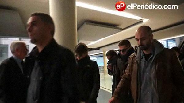Los mossos que redujeron a Benítez llegan a la Ciutat de la Justícia