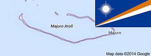Mapa de Google de las islas Marshall.