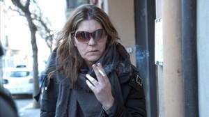 Margarida Garau, el pasado enero, ante el juzgado de La Seu dUrgell.