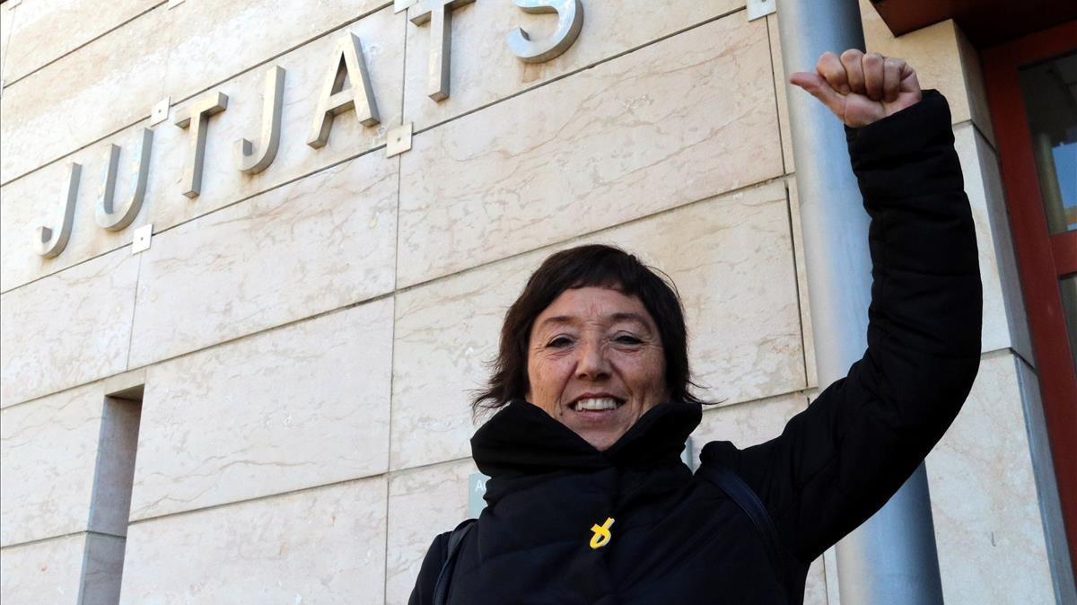 Mariona Quadrada (CUP) tras salir de declarar en los juzgados de Reus.