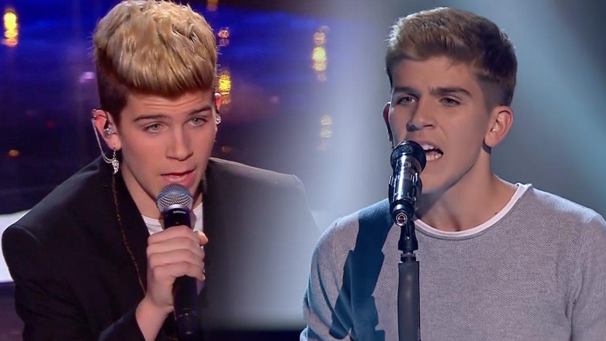 Marlo en 'Got talent' (izquierda) y en 'La voz' (derecha).