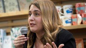 Marta Pascal, el pasado 10 de febrero, en la presentación en Barcelona de su libro 'Perdre la por'.