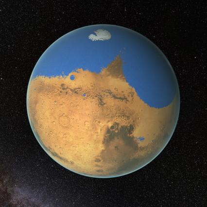 Marte tuvo agua como para cubrir todo un planeta.